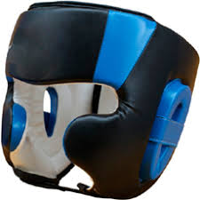 Boxing Headgear, PU Leather Head Guard Sparring Helmet for Boxing