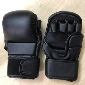 MMA Gloves for Men & Women, Kickboxing Gloves with Open Palms